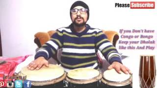 How To Play Bongo, Congo & Djembe  Important For Dholak Player Beginner conga Lesson