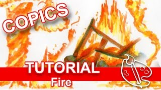 Tutorial: How to Draw FIRE (with COPIC MARKERS)