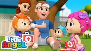 Daddy Got a Boo Boo | Little Angel Kids Songs & Nursery Rhymes