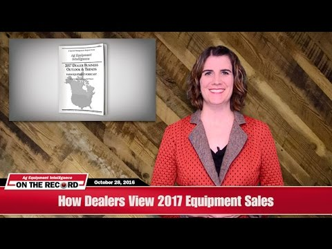 On The Record: How Dealers View 2017 Equipment Sales