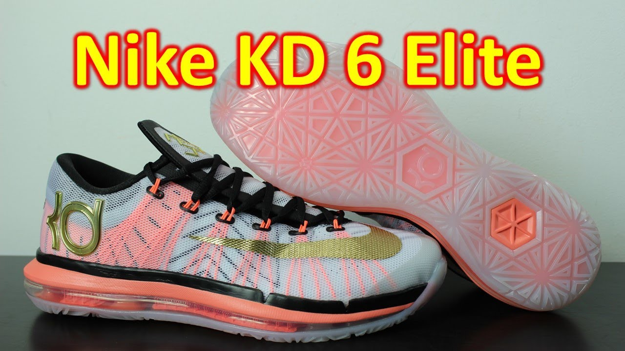 3e33ff8547a7 Nike KD 6 Elite White Metallic Gold - Review + On Feet - YouTube