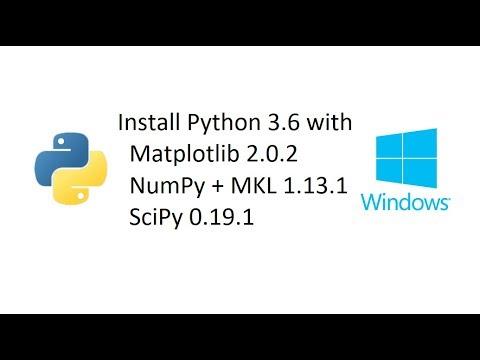 Install Python with Matplotlib, Numpy+MKL, and SciPy