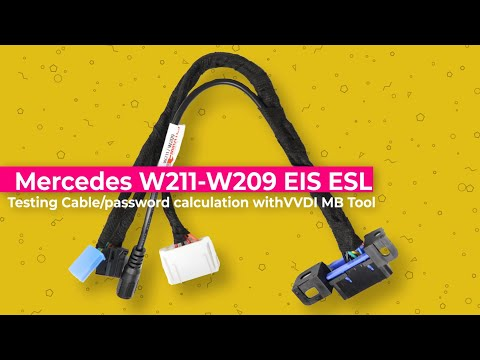 Mercedes W211-W209 EIS ESL Testing Cable + Password Calculation With VVDI MB Tool