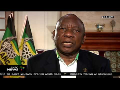ANC President Ramaphosa makes an announcement on land expropriation