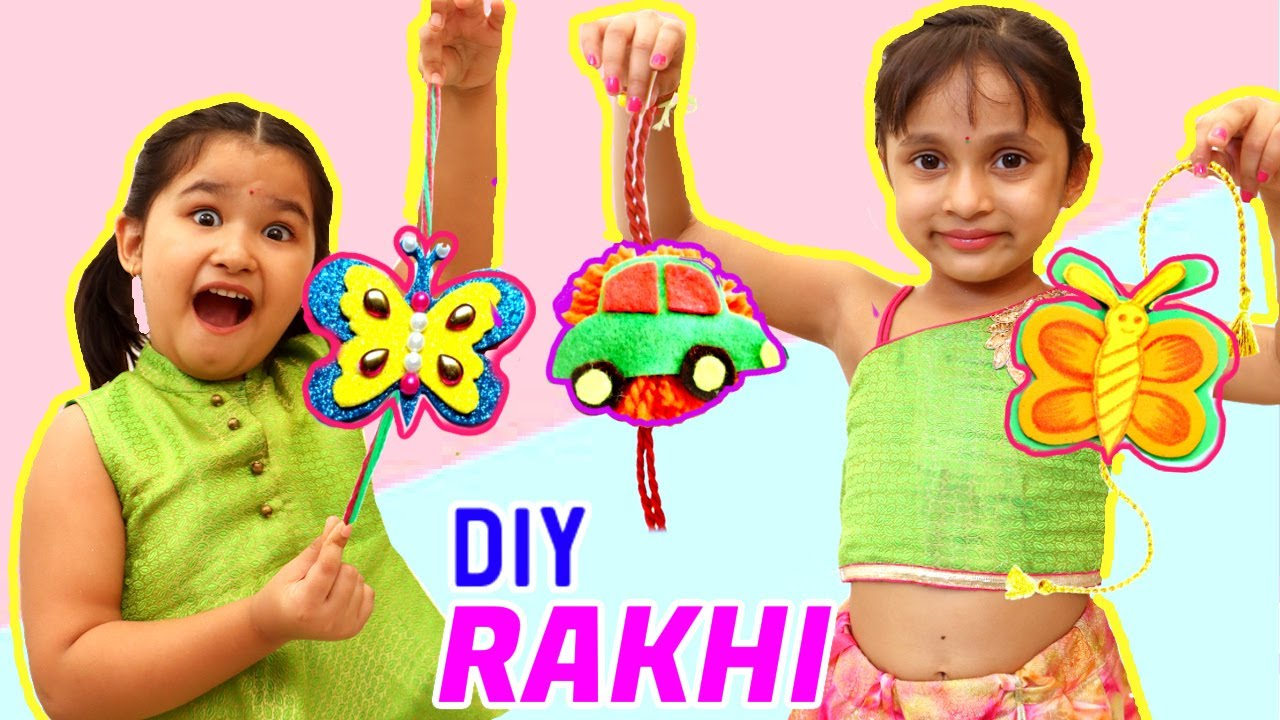 DIY Rakhi Making - Kids Pretend Play Home Made Rakhi | ToyStars