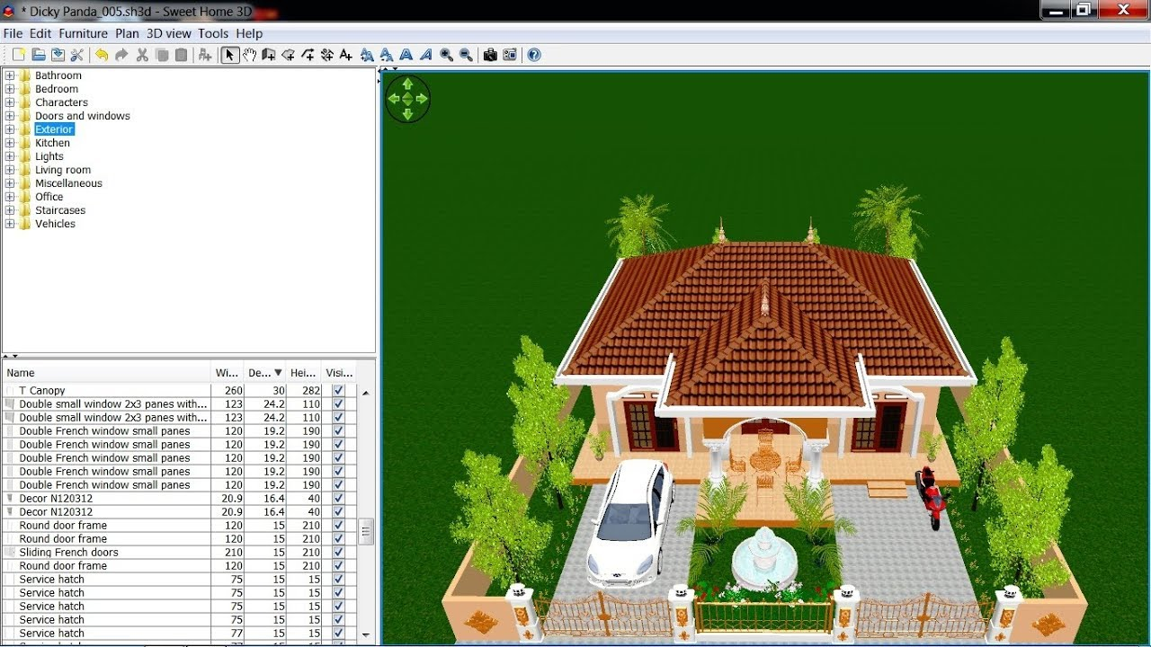 Sweet Home 3d Roof Tutorial Cara Membuat Atap Iii Youtube