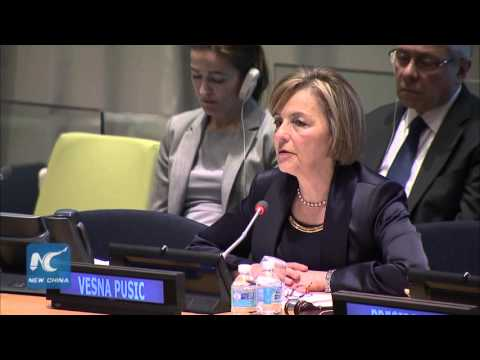 Vesna Pusic from Croatia highlights issues of refugee and gender equality in UN Chief audition