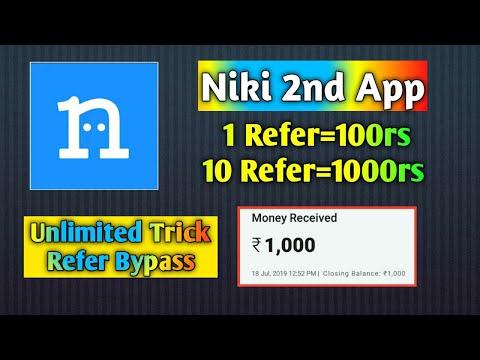1 Refer=100rs = 10 Refer=1000rs || Niki Lite Online Refer Script || Smart Earning