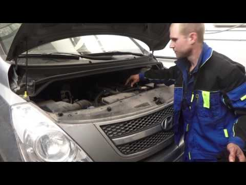 Замена масла в акпп и двигателе Hyundai Grand Starex