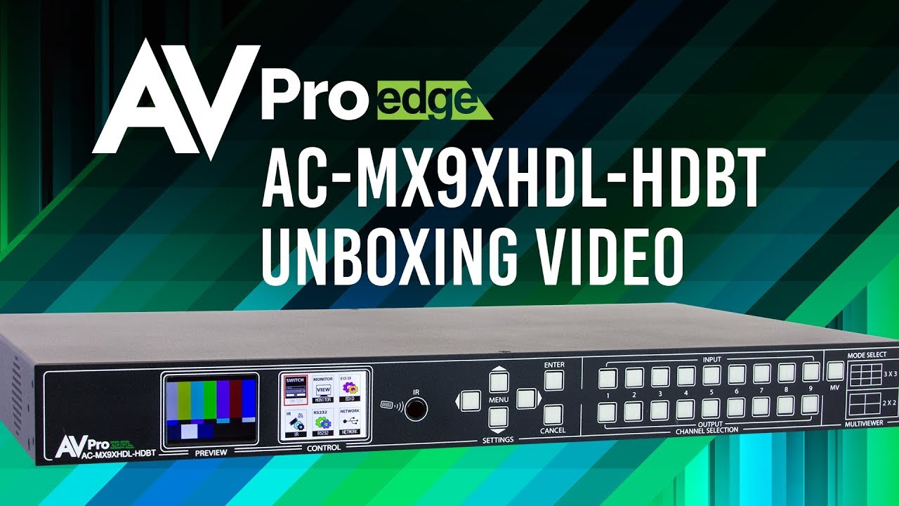 AC-MX9XHDL-HDBT: Cloud 9 9xUnlimited HD Matrix - AVPro Edge