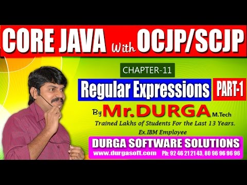 Core Java With OCJP/SCJP-Regular Expressions-Part 1