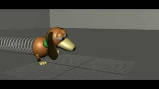Slinky Dog 3D animation