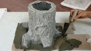 Awesome Tree Stump Ideas for Garden | Making a Tree shaped Flower Pots Easy | DIY garden