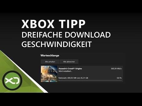 Xbox Tipp: Dreifache Download Geschwindigkeit, bis zu dreimal mehr Speed