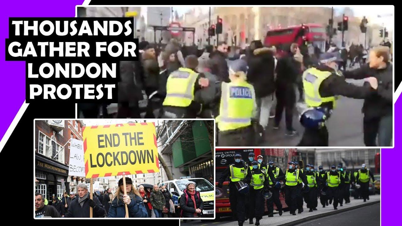 London Lockdown Protest 19th December, Police Getting Heavy Handed / Hugo  Talks - YouTube