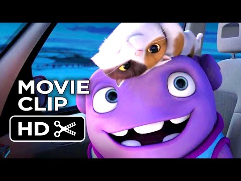 Home Movie CLIP - Cat Infested Car (2015) - Jim Parsons, Rihanna Animated Movie HD