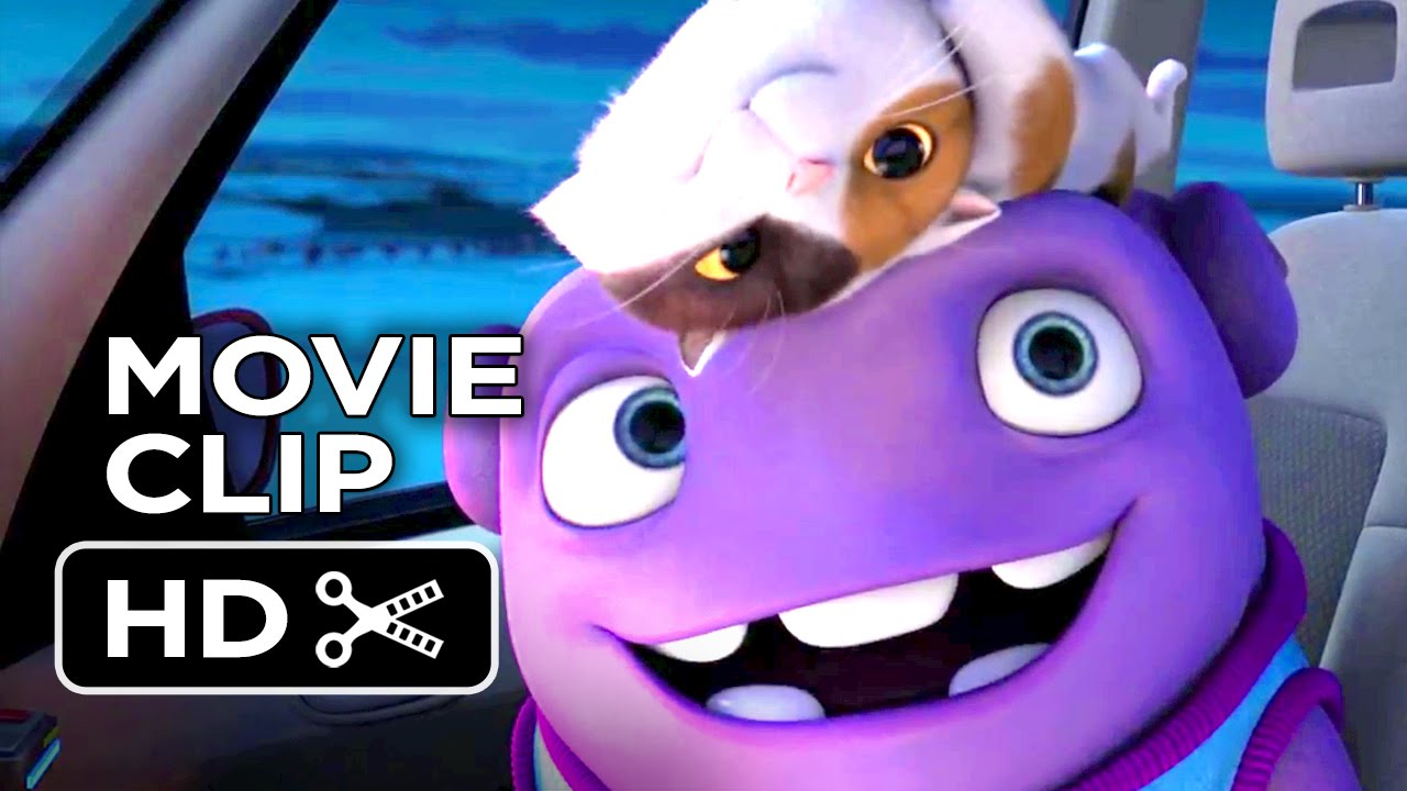 Purple Cat In Animated Movie