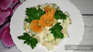 Салат мясной без колбасы.