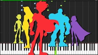 Teen Titans Intro Theme [Piano Tutorial] (Synthesia) // Fontenele NXT