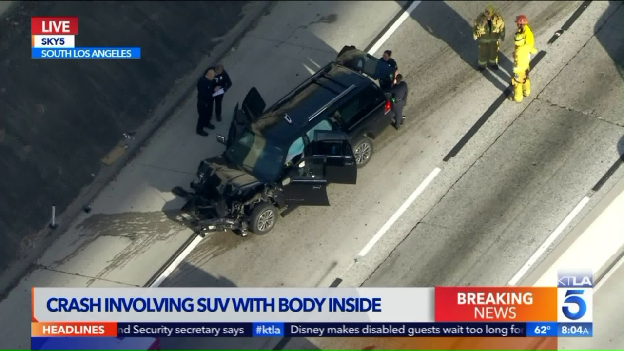Stolen Hearse With Woman's Corpse Inside Crashes