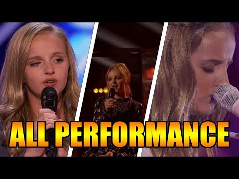 Evie Clair America's Got Talent 2017 ALL Performances|GTF