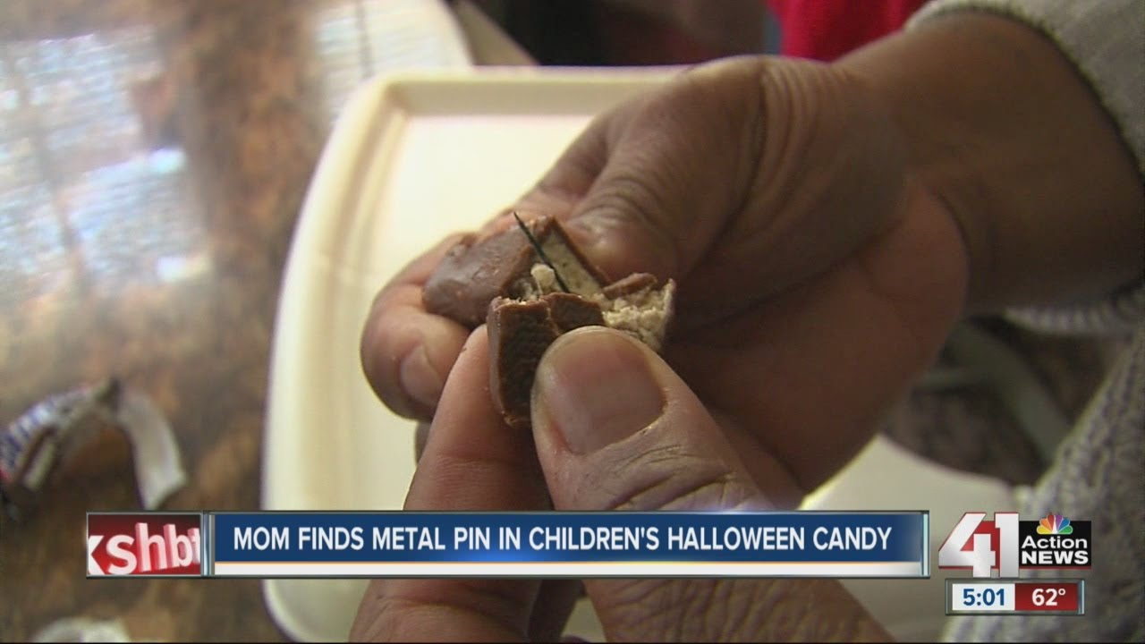 Sharp pin found in Halloween candy