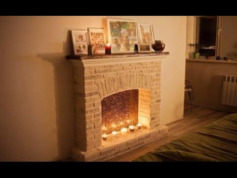 видео: Камин из гипсокартона своими руками. Декоративный Фальш Камин