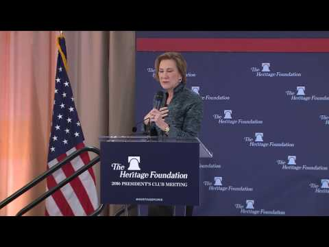 Carly Fiorina on the Future of the Conservative Movement | The Heritage Foundation