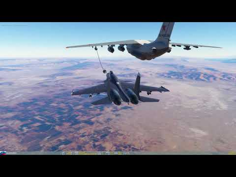 DCS World - New updated Su33 on Nevada 2.1.1 - Air refuel