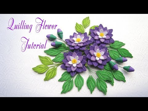 QUILLING FLOWER v2 TUTORIAL | Diy PAPER FLOWER  v2 TUTORIAL