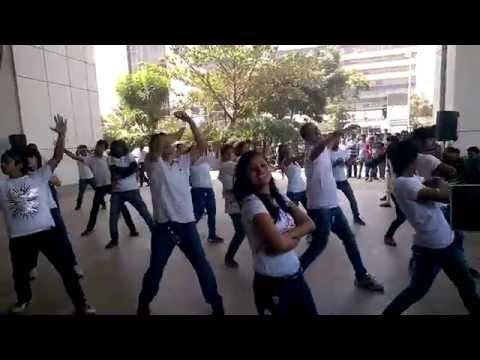 Qualcomm flash mob Bangalore 10th anniversary Adarsh Building
