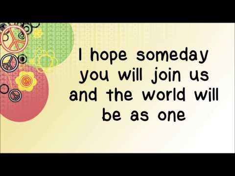 Glee - Imagine (Lyrics) HD