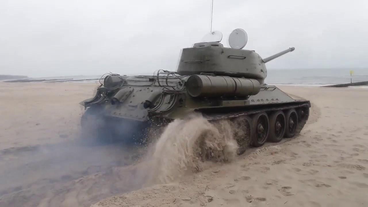 Rewitalizacja czołgu T34/85 - YouTube