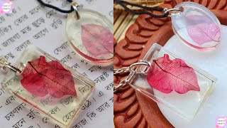 DIY  Resin  Pendant /FAIRY PENDANTS MADE FROM DRIED PLANTS AND RESIN
