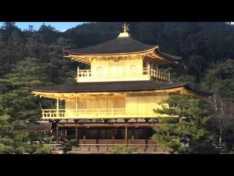 Golden pavillion (Kinkakuji temple) in Kyoto the historic capital of Japan (video Dec. 2015)