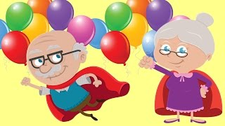 Learn Extended Family Members With Balloons   Finger Family Song Grandpa Grandma Uncle Aunty Cousin
