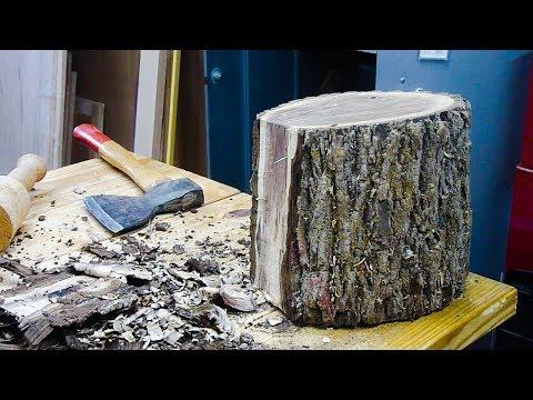 Woodturning a Black Walnut Log into a Bowl