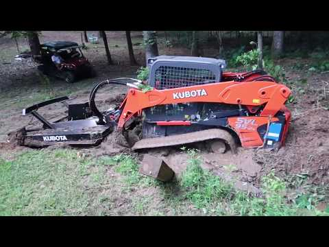 Kubota skidsteer sunk in a creek & rescued