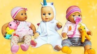 Vidéo en français pour enfants. Baby Annabell reçoit les amis. Jeu pour les filles