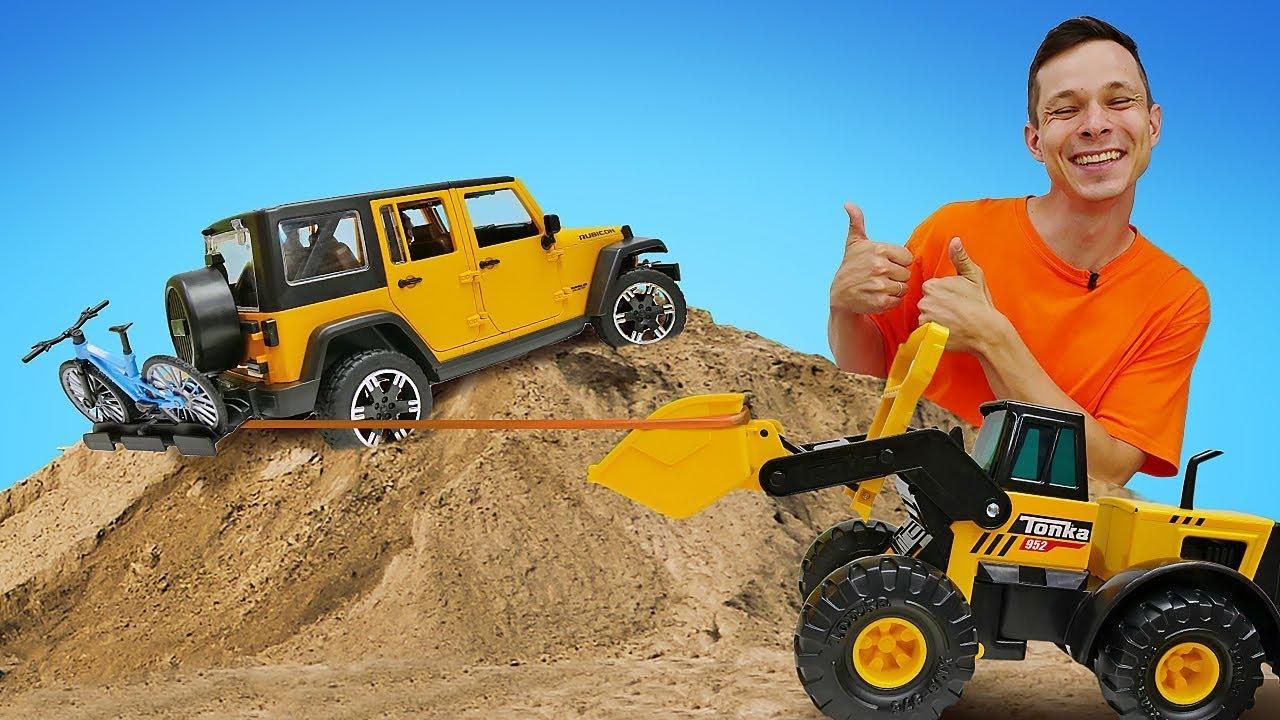 Новое видео распаковка для мальчиков: Бен10 испытывает машинки BRUDER! Игры в игрушки для детей