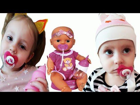 БЕБИ БОН ДИАНА! Диана играет с Софией как с куклой Baby Born