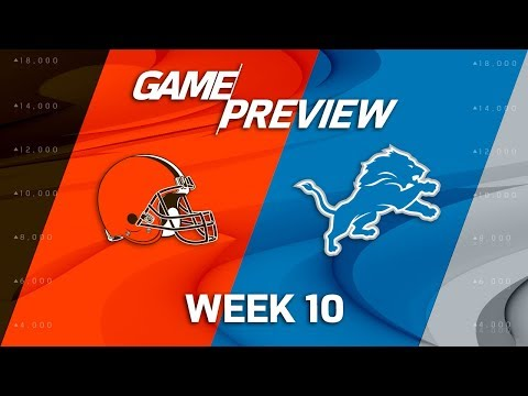 Cleveland Browns vs. Detroit Lions | NFL Week 10 Game Preview