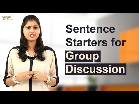 Sentence starters for Group Discussion || IT Careers