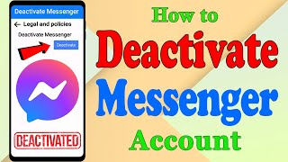 How To Temporarily Deactivate Messenger Account 2021 || New Trick || iPhone & Android || Updated