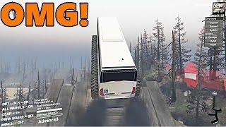 Spin Tires | TERRIBLE BUS vs BIGGEST JUMP!