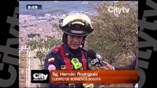 Nuevo incendio forestal en Bogotá    CityTV   Citynoticias de las 8  Febrero 9 de 2016
