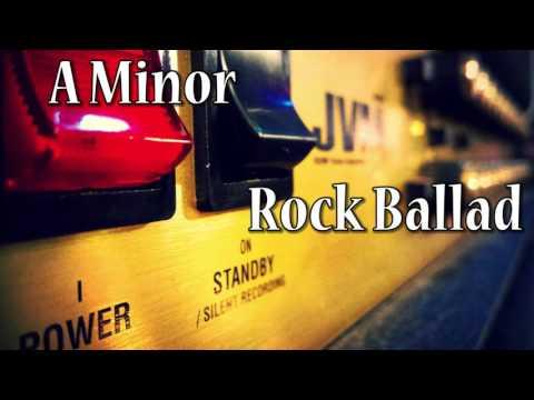 Rock Ballad Guitar Backing Track in A Minor (82 bpm)
