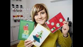 Weihnachtskarten nähmalen