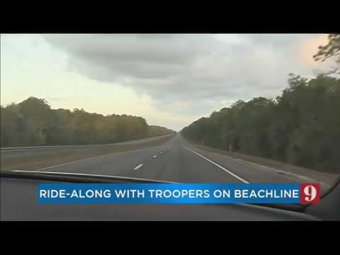 We rode along with troopers as they surveyed State Road 528,