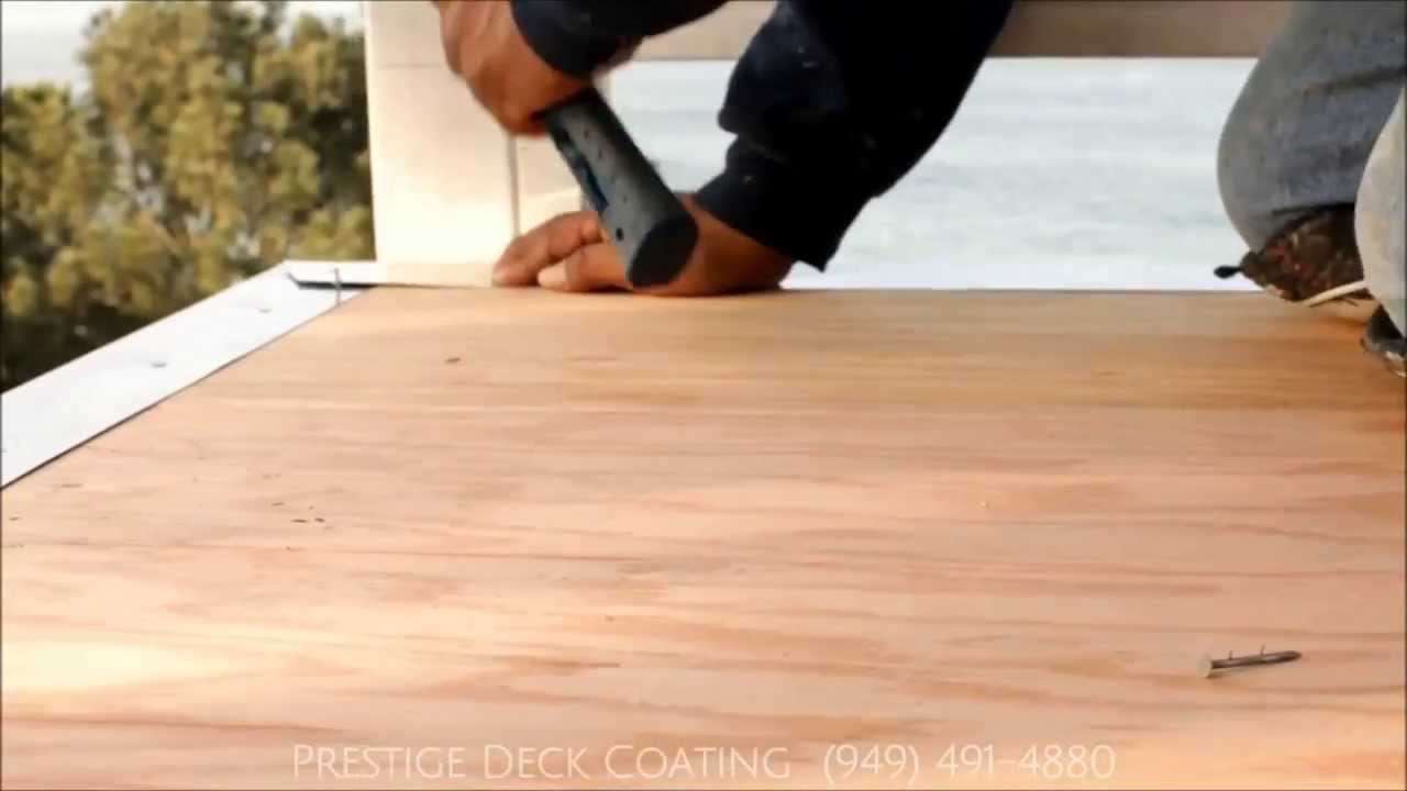 Prestige Decking Coating Drip Edge Flashing Installation